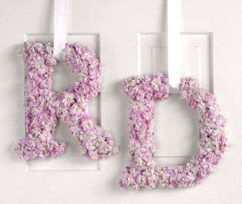 Flower-monogram