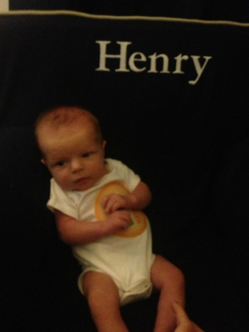 Henry at one month